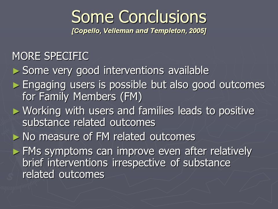 Some Conclusions [Copello, Velleman and Templeton, 2005]